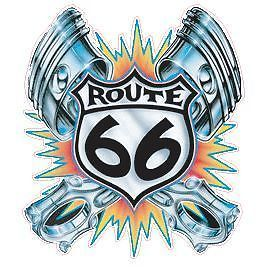 Route 66 Hot Rod Vinyl Decal Sticker Mopar Chevy Ford