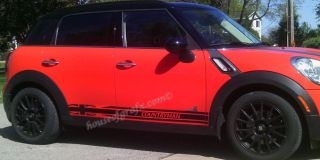 Union Jack Flag 001A Rocker Panel Graphics Decals Fits Mini Countryman Cooper
