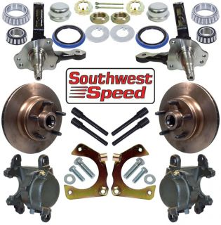 Deluxe Hot Rod Front Brake Spindle Kit 5 x 5""