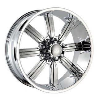 "24"" Dcenti 903 Chrome Wheels 8 Lug Rims 305 45 24 Falken Tires Hummer H2 22 26"