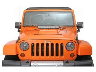 "Rigid Industries Jeep Wrangler JK Hood Mount Kit for 20"" E SR Series Light Bar"
