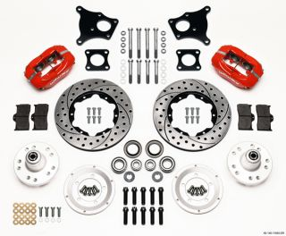 "Wilwood Disc Brake Kit 71 74 AMC AMX Javelin 11"" Drilled Rotors Red Calipers"