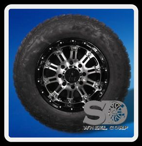 "17"" XD Hoss Gloss Black Rims with 265 70 17 Falken Wild Peak Tires Wheels Rims"