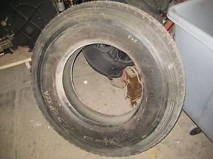 Semi Tractor Truck Tires 1 Goodyear 11R22 5 New Recapped G167A Tubeless