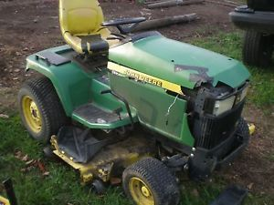 John Deere 445 AWS 4 Wheel Steer Parts Tractor with Mower Deck