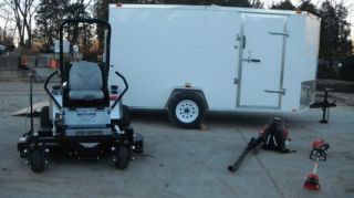 New 60'' Dixie Chopper Silver Eagle Zero Turn Lawn Mower Enclosed Trailer