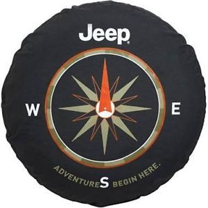 2011 2012 Jeep JK Wrangler Spare Tire Cover Adventure Begins Mopar 82210884AB