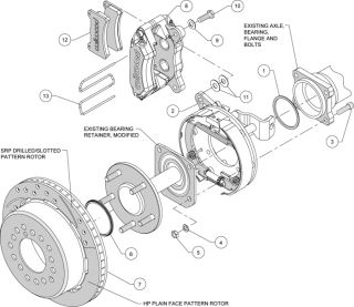 Wilwood Disc Brake Kit 59 64 Chevy Impala Bel Air Drill