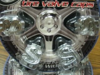 4 Chrome Dollar Sign $ Valve Stem Caps Covers Hot Rod Car SUV Truck CUV