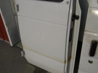 92 07 Ford Econoline E 250 Van OE RH LH White Side Cargo Van Doors with Glass