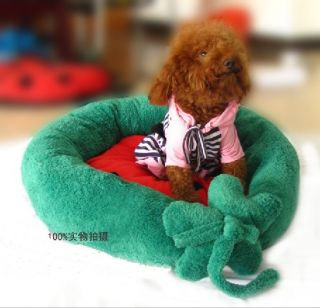 Green Indoor Soft Warm Pet Puppy Dog Bed House Small