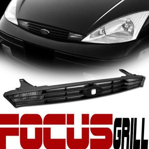Blk Sport Front Hood Bumper Grill Grille Clear Signal Light 00 04 Ford Focus