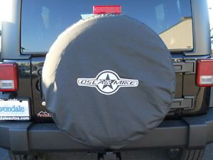 "Jeep Wrangler 2012 2013 Oscar Mike Spare Tire Covers Cover 32"" 255 75 17 Mopar"