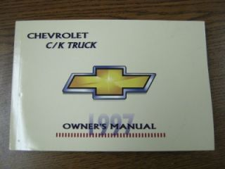 New 1997 Chevrolet GMC CK Truck Owners Warranty Manual