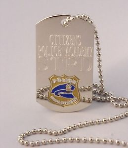Policeman Key Chain ID Tag Identification Dog Tag Medal Engraved Personalized