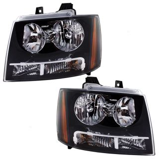 New Pair Set Headlight Housing Assembly Dot 07 12 Tahoe Suburban Avalanche