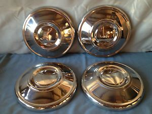 Vintage Dog Dish Hubcaps Set of 4 Chevy Ford Dodge