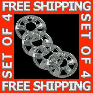 "10 11 GMC Terrain 17"" Chrome Wheel Skins Hubcaps Covers Hub Caps Set Free SHIP"