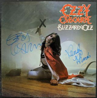 Randy Rhoads Ozzy Osbourne Authentic Signed Album Cover w Epperson COA