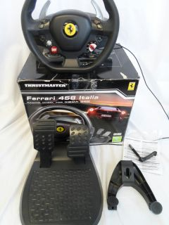 As Is Thrustmaster Ferrari 458 RW Italia Racing Wheel for Xbox 360