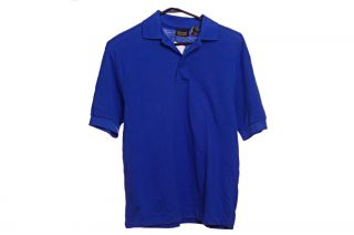Edwards Mens Casual Blue SS Polo Golf T Shirt Size XS Extra Small Cotton New