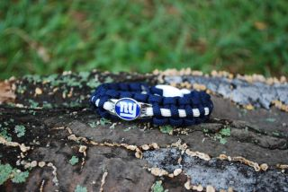 NY Giants Big Blue Sports Football Survival Band 550 Paracord Bracelet Charm New