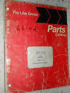 International IH Hough H 80B Parts Catalog Manual Book Wheel Loader Payloader