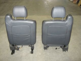 99 06 GMC Sierra Chevy Silverado Z71 Extended Cab Gray Leather Bucket Seats