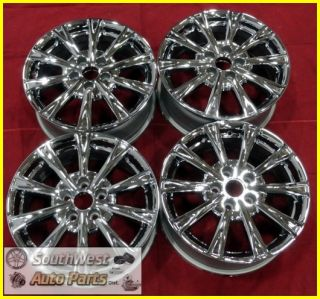 "09 10 11 Buick Lucerne 17"" Chrome 10 Spoke Wheels Used Factory Rims Set 4091"