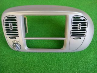 97 03 Ford F150 Dash Radio Heater Bezel Trim Dark Grey