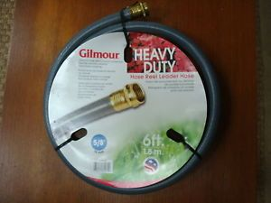 Gilmour 6 Feet Heavy Duty Hose Reel Leader Hose Outdoor Lawn Care New