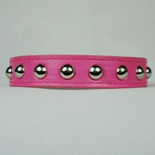 Studded Adorable PU Leather Dog Collar Cat Puppy Collars Size XS s M L New