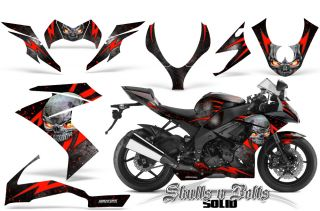 Kawasaki ZX10 Ninja 08 09 Graphics Kit Creatorx Decals Stickers SNBSDRB