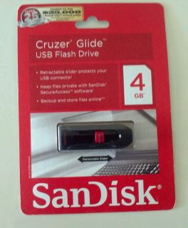 SanDisk Cruzer Glide 4 GB USB Flash Drive 360 Compatible