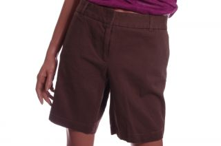 Land N Sea Womens Casual Brown Bermuda Shorts Stretch Cocoa 8 Khaki Chinos New