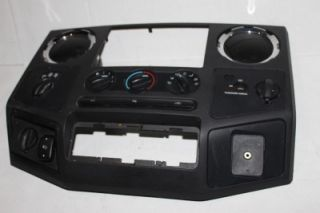 08 10 Ford Superduty F250 F350 Powerstroke Wood Grain Dash Bezel Radio Surround