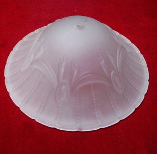 Elegant 10 inch Art Deco Design Frosted Glass Shade Lamp Chandelier Repair
