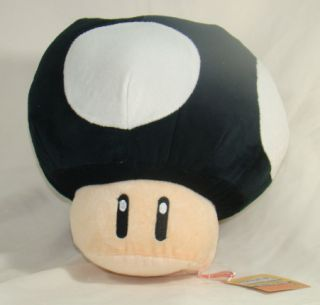 "8"" Super Mario Brothers Figure Plush Doll Soft Toy Black Toad Mushroom SY04"