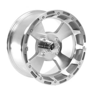 "Summit Racing 161 ATV Series Machined Clear Coat Bruiser Wheel 14""x7"" 4x110mm"
