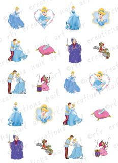 20 Nail Decals Disney Princess Water Slide Decals All Princesses Availible