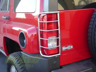 Hummer H3 Stainless Steel Tail Light Guards 2006 2009