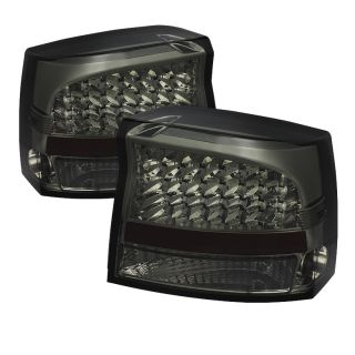 Tail Lights Lamps Dodge Charger 2006 2008 LED Smoke
