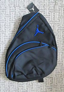 Nike Jordan Jumpman Mens Boys School Backpack Sling Messenger Bag Black Blue New