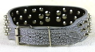 New Styles 2inch Wide Studded Leather Dog Collars with Ring for Pit Bull Boxer