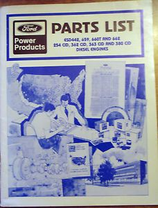 Ford Power Products Parts List Book Diesel Engines ESD442 659 660T and 662 254