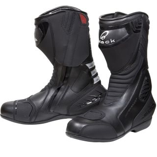 Black Strike Waterproof Sport Racing Motorcycle motorbike Performance Race Boots