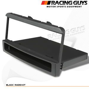 2003 2004 Ford Focus Black Dash Kit Radio Single DIN Bezel Trim Storage Pocket