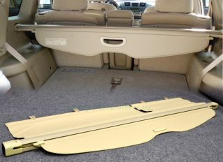 08 10 Toyota Highlander Rear Trunk Roll Cargo Shielding Cover Tan Replacement