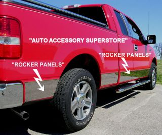 2009 2013 Ford F150 Chrome Rocker Panels Awesome Looks Quick Easy Install