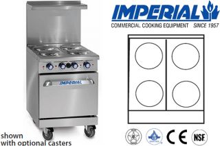 "Imperial Commercial Restaurant Range 24"" with 20"" Oven Electric Model IR 4 E"